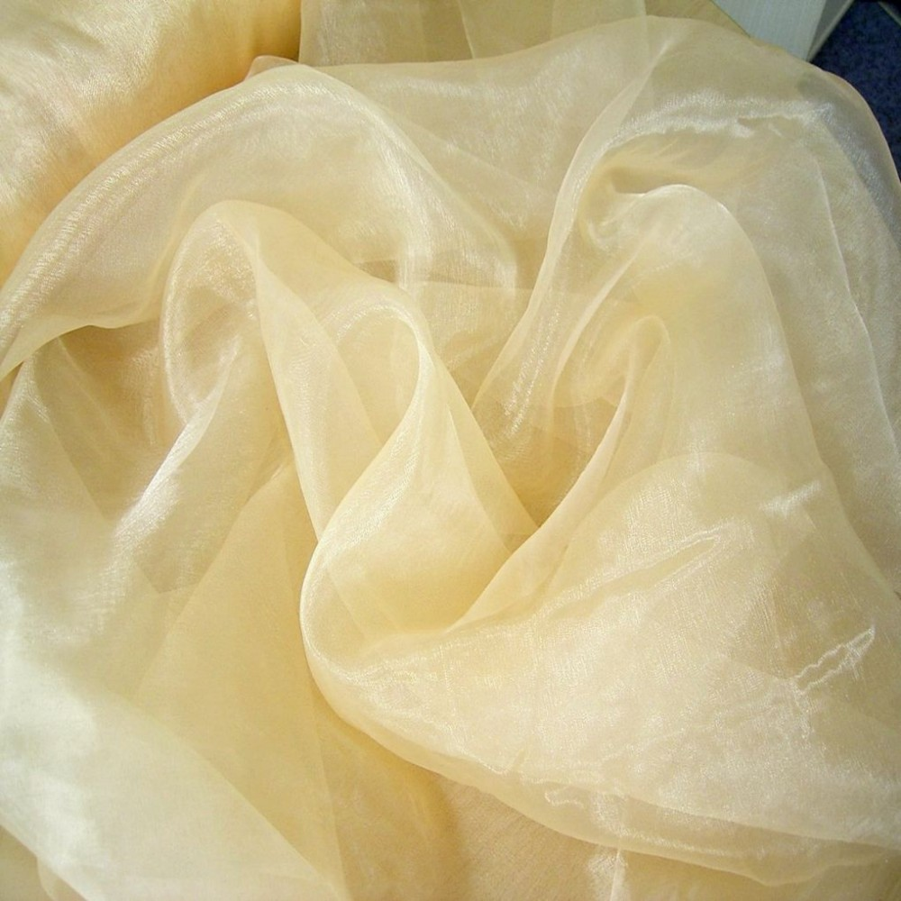 Organza Stoff in Champagner