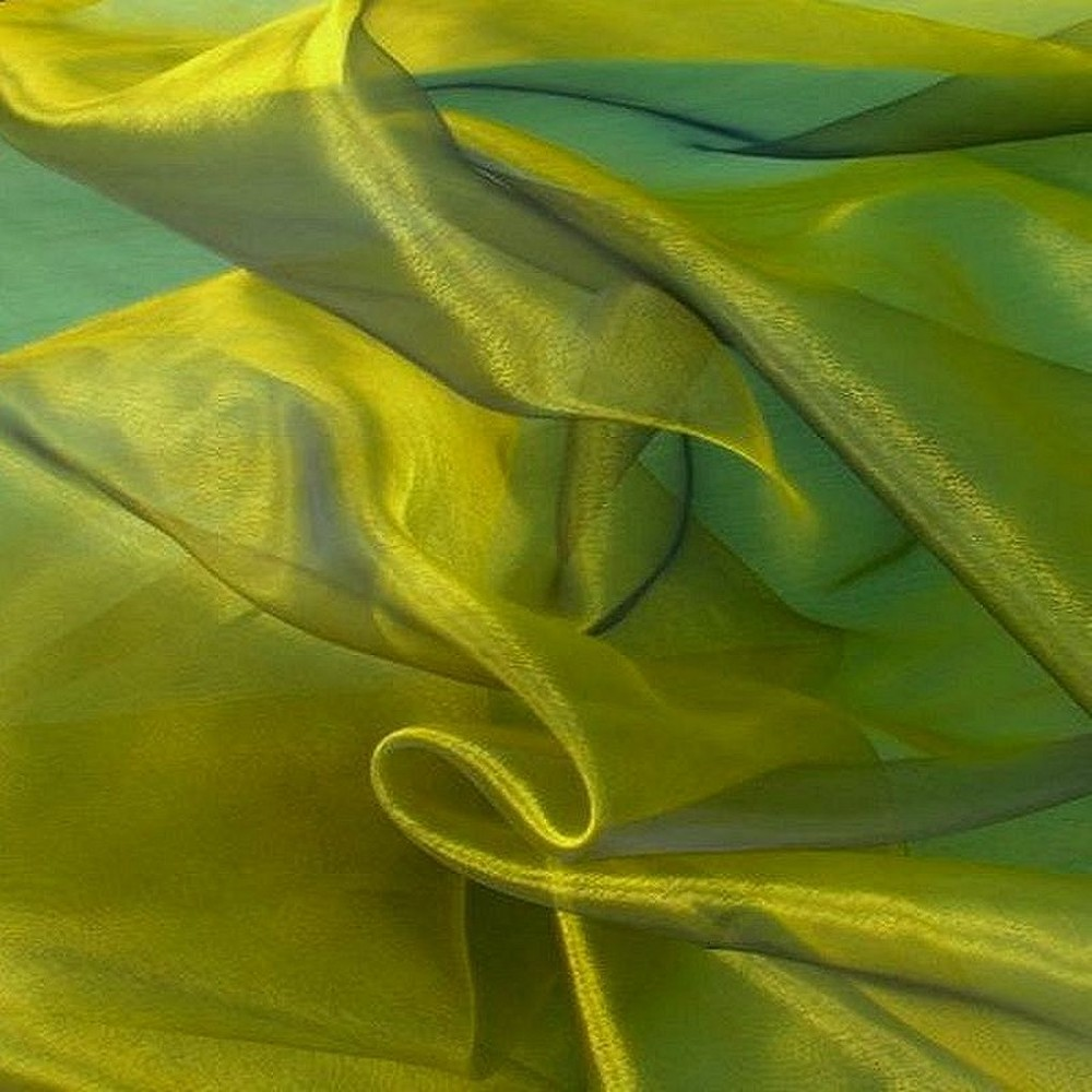 Organza in Antik-Grün