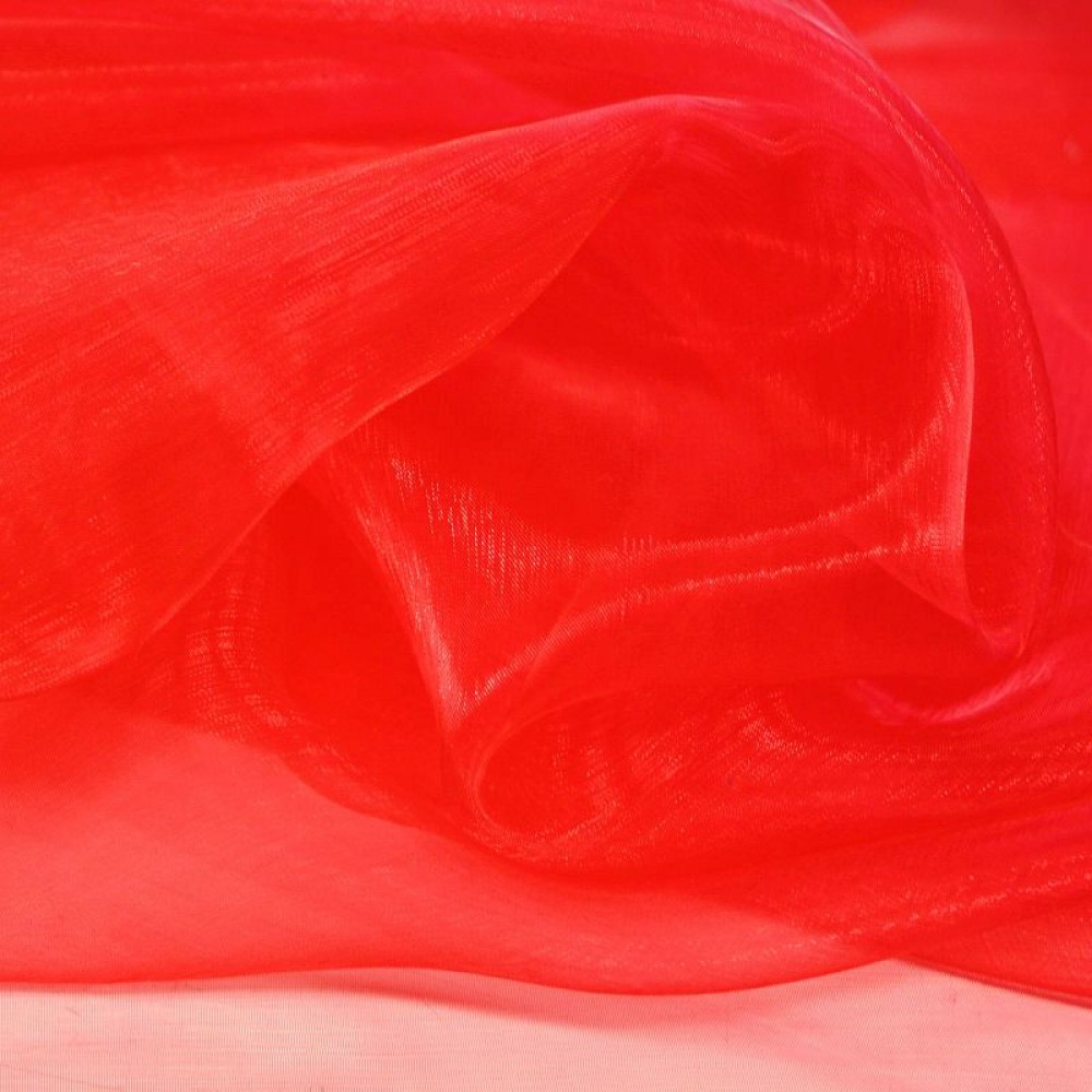 Organza Stoff in Rot
