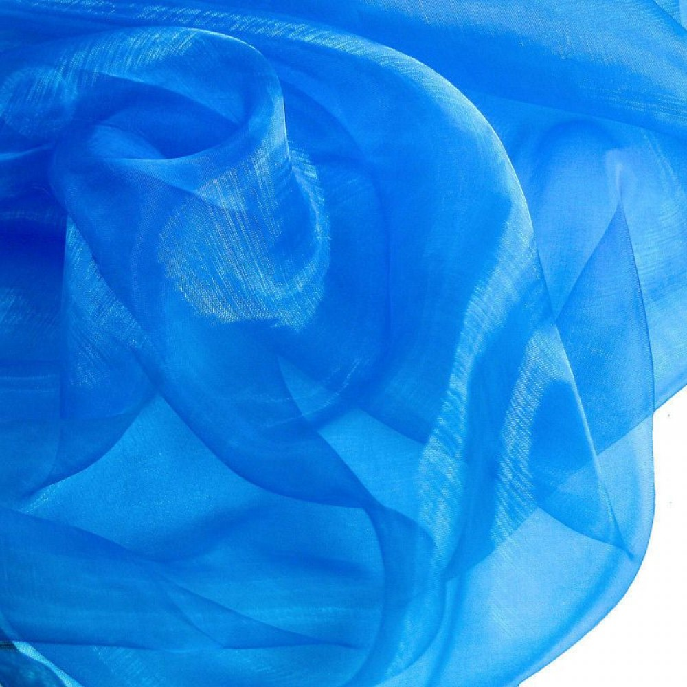 Organza Stoff in Royal-Blau