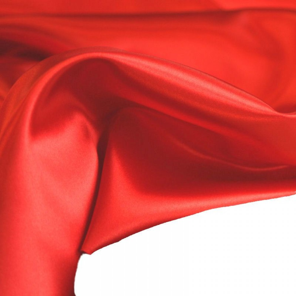 Glanz Satin in Rot