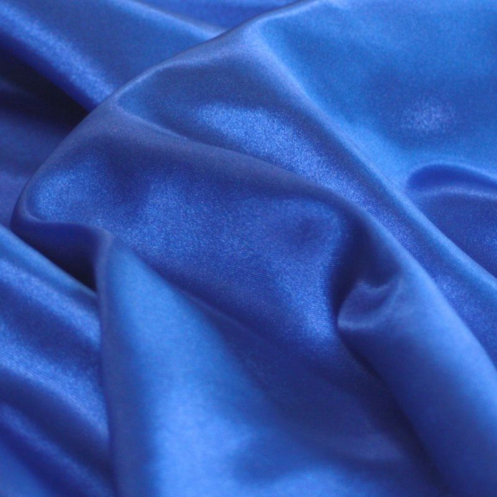 Glanz Satin in Royal-Blau